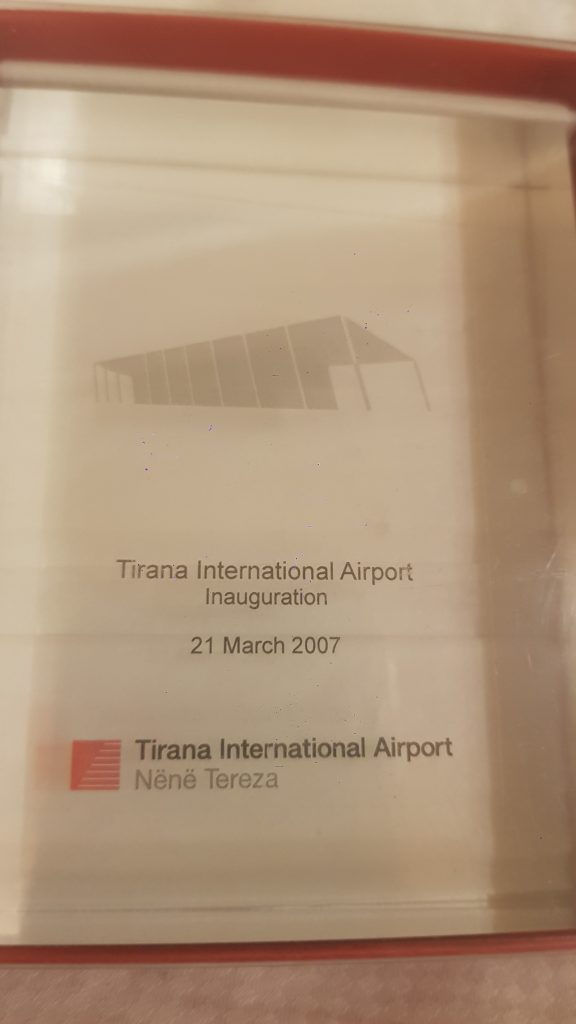 Tirana International Airport inauguration ( Albania )