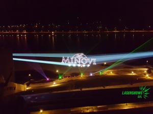 Лазерна прожекция на лого Минови Груп